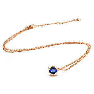 Elegant Crystal Pendant Chain Necklace