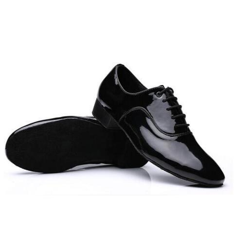 Black  Leather Performance Shoes