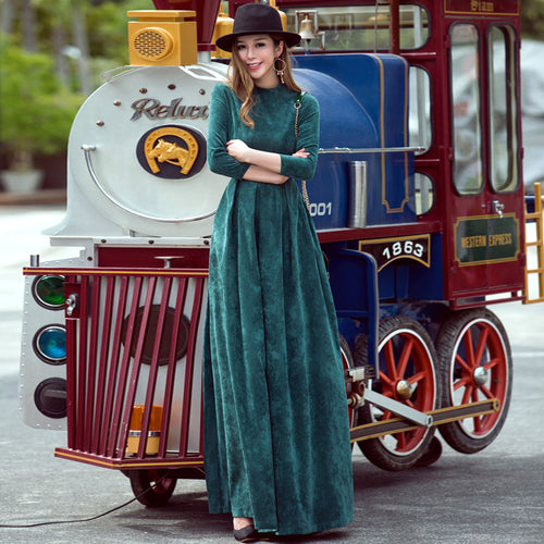 Maxi dress A-line Pocket
