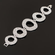 Rhinestone Silver Plated Crystal Bracelets For Women Fashion