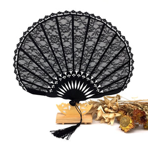 Black Lace Shell Fan