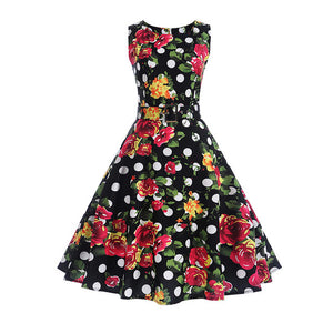 Needs 2 Dance | Women's  50s 60s Elegant Rockabilly Sexy Pin Up Dress with Belt