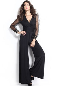 Women's Mesh Long Sleeve Jumpsuit