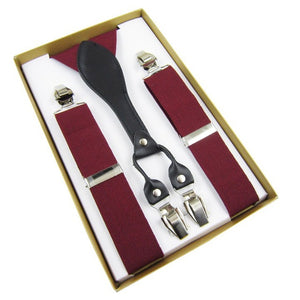 3.5 cm Width Adjustable Four Clip-on Y-Back Suspender