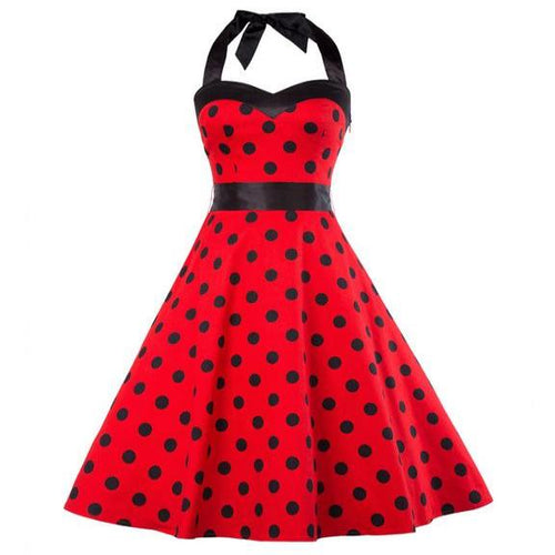 Women's Halter Summer Vintage Dress