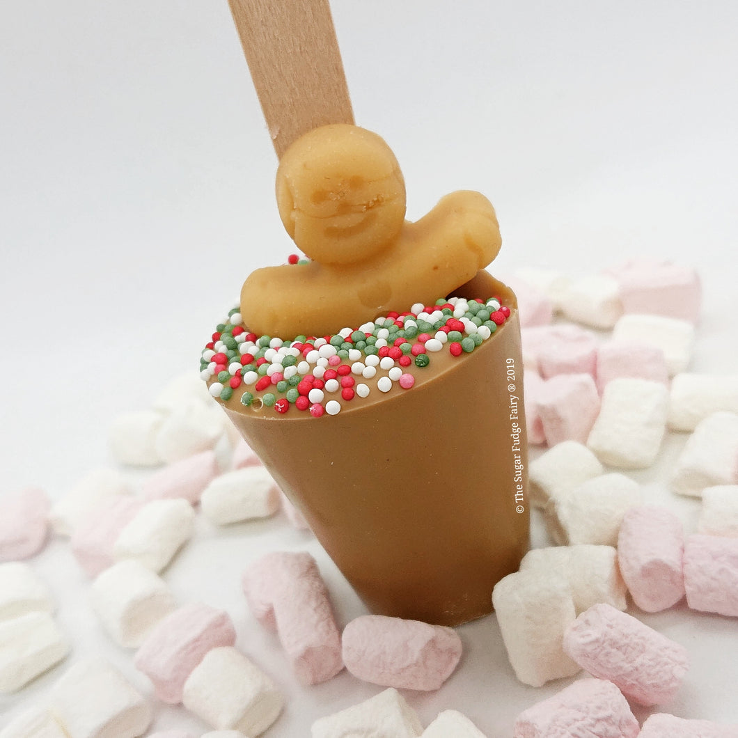 Hot Chocolate Stirrer - Caramel Gold Chocolate
