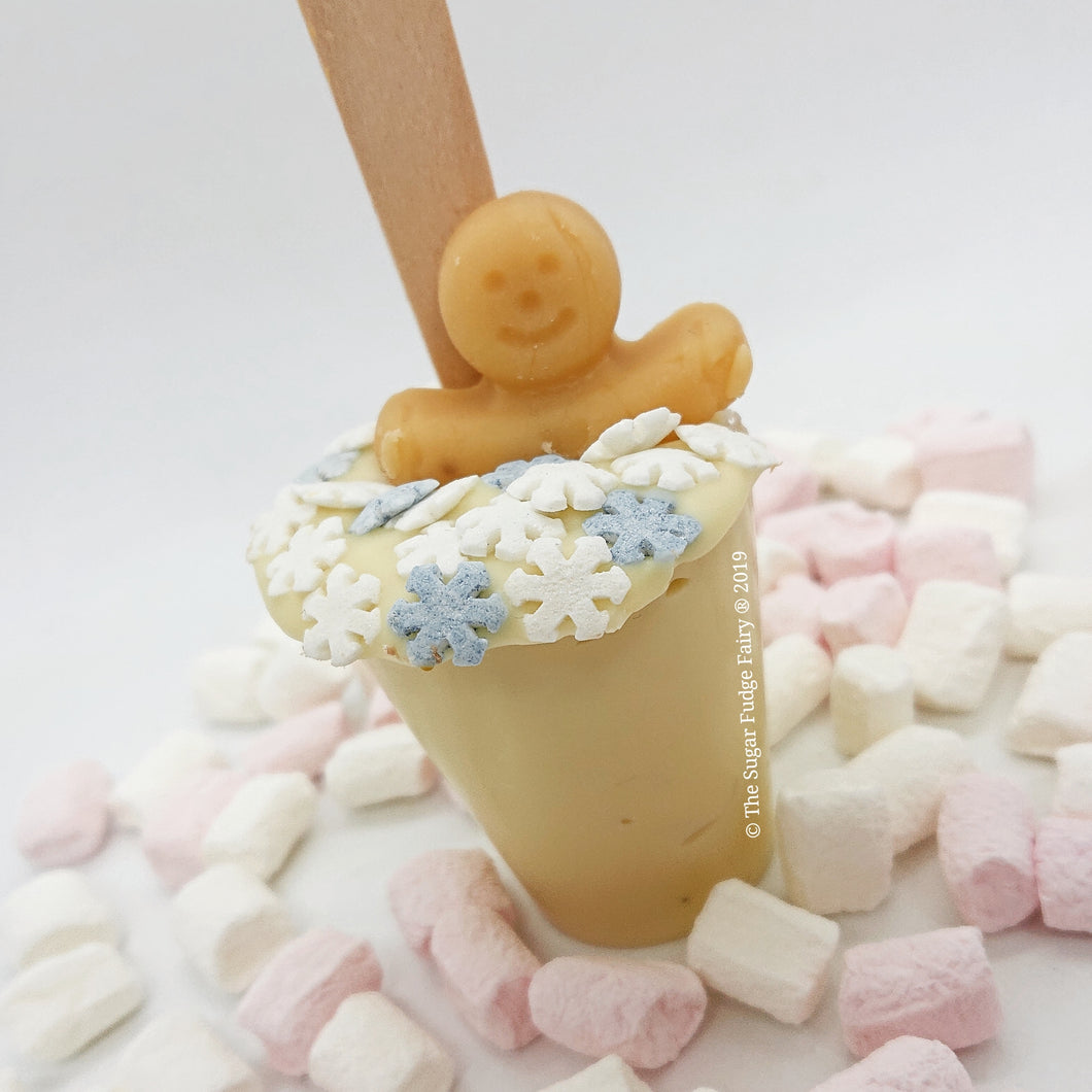 Hot Chocolate Stirrer - White Chocolate
