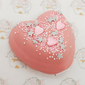 Fudge Hearts - White Chocolate and Raspberry