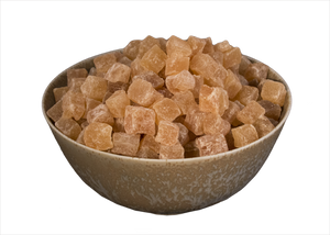 Ginger, Crystallized, Sugar Dusted Cubes