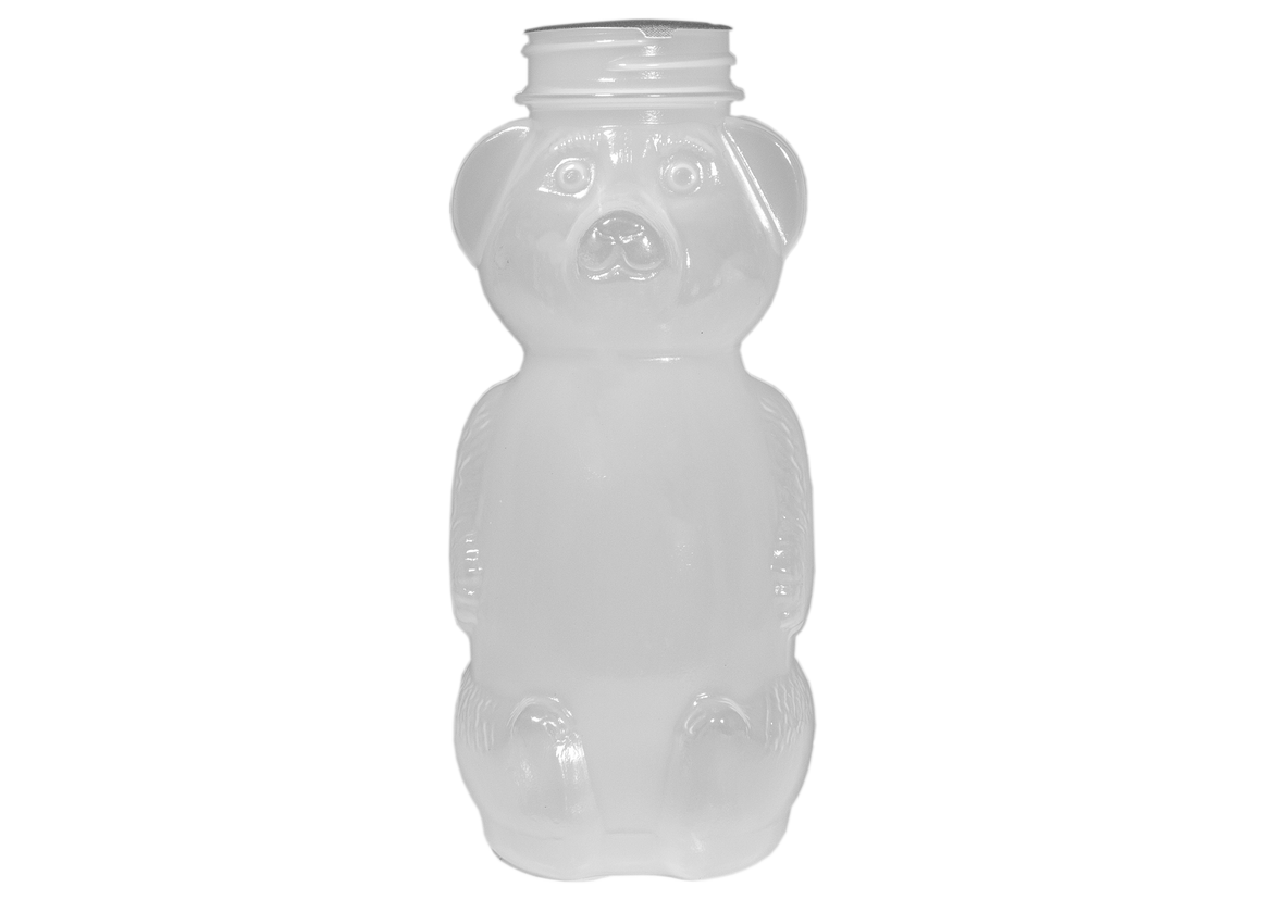 Containers and Lids, Plastic Honey Squeeze Bears, 8.5 oz
