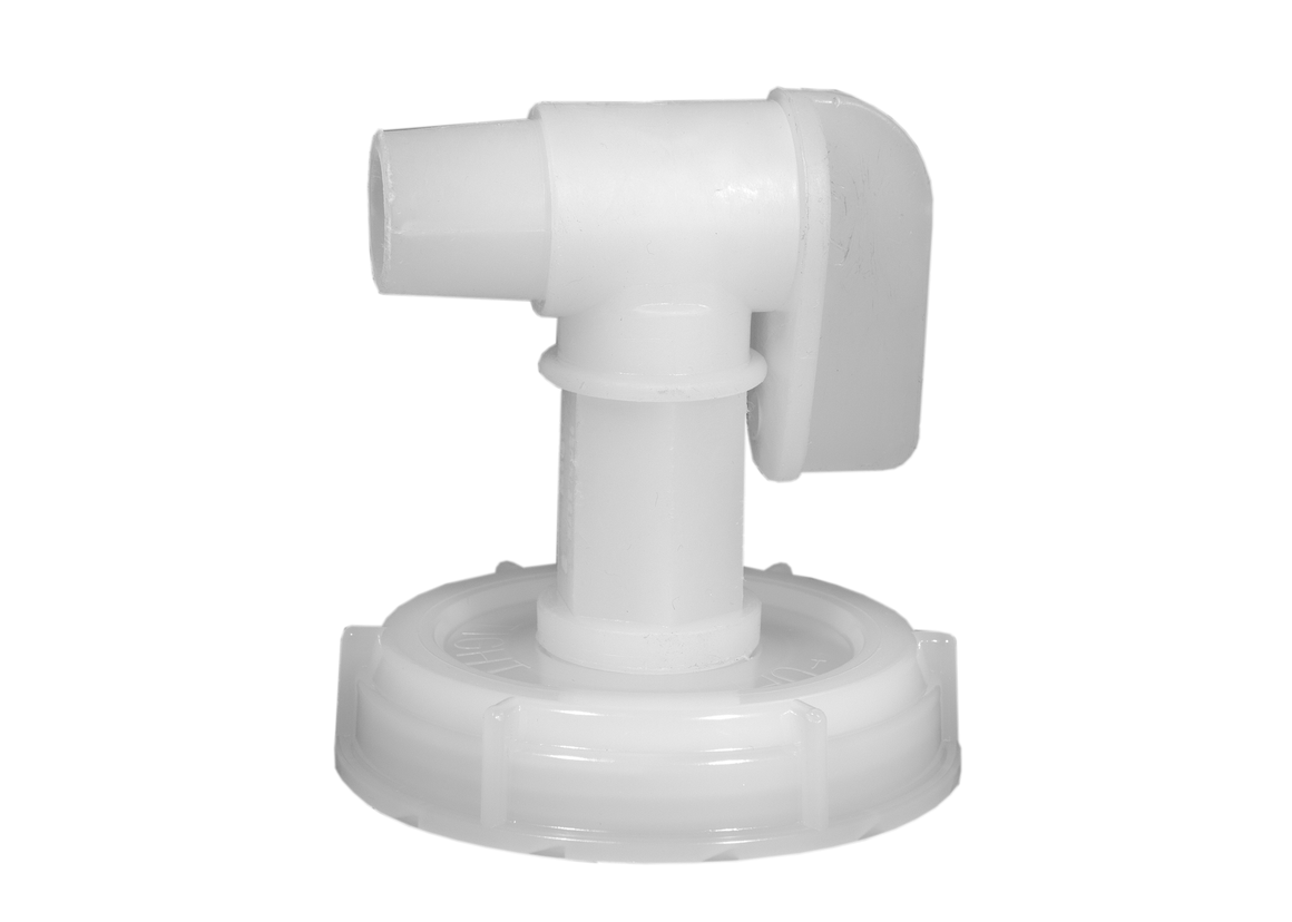 Lid and Spigot for 5 Gal Cube (assembly required)