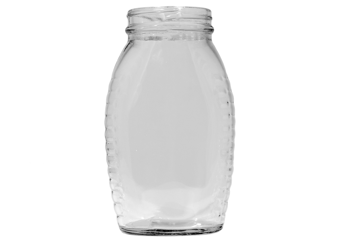 Containers and Lids, Queenline Glass Jars, 11 oz