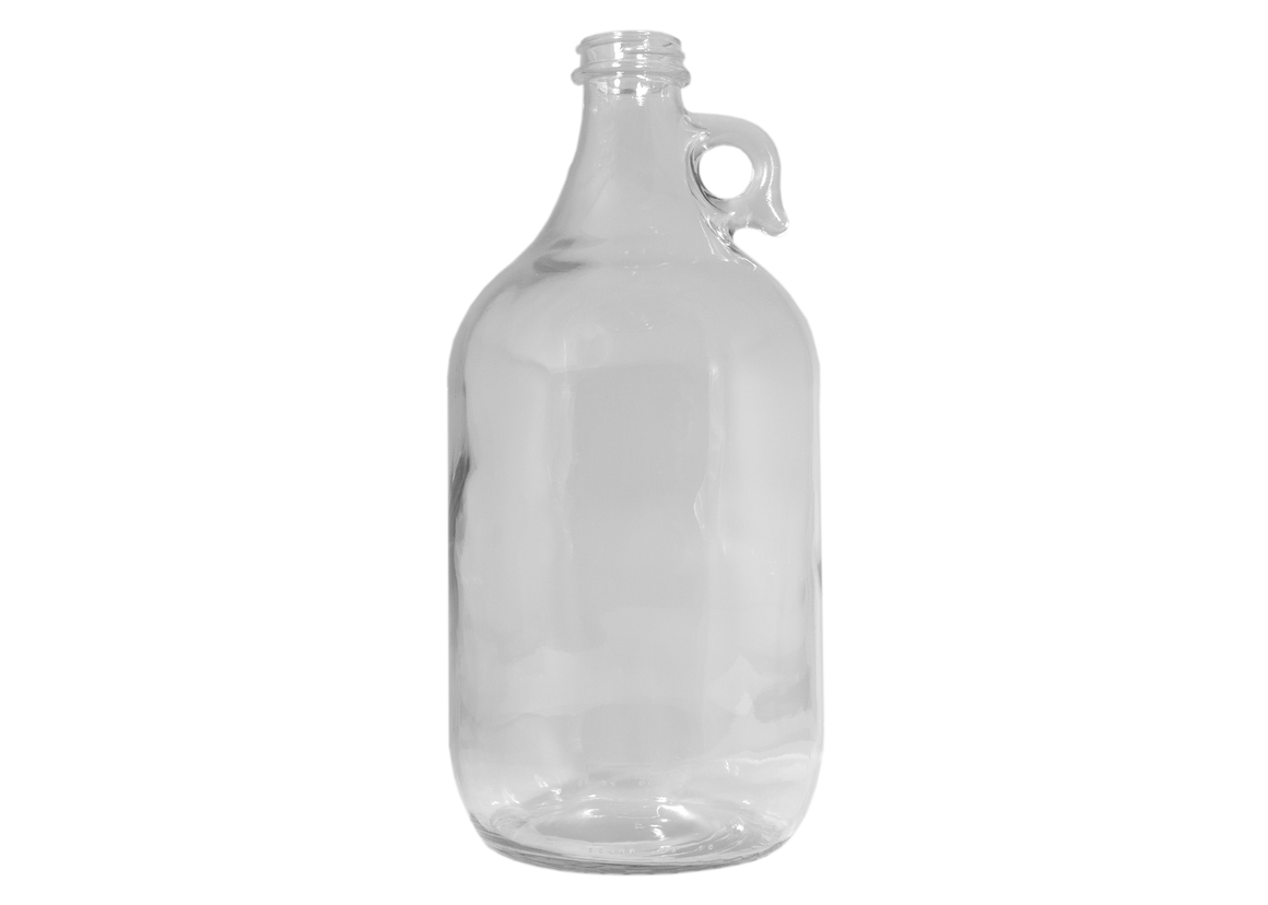 Containers and Lids, Glass Jugs, 1/2 Gal