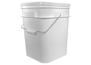 Bucket, Food Grade Plastic, 4 Gal, Square, New