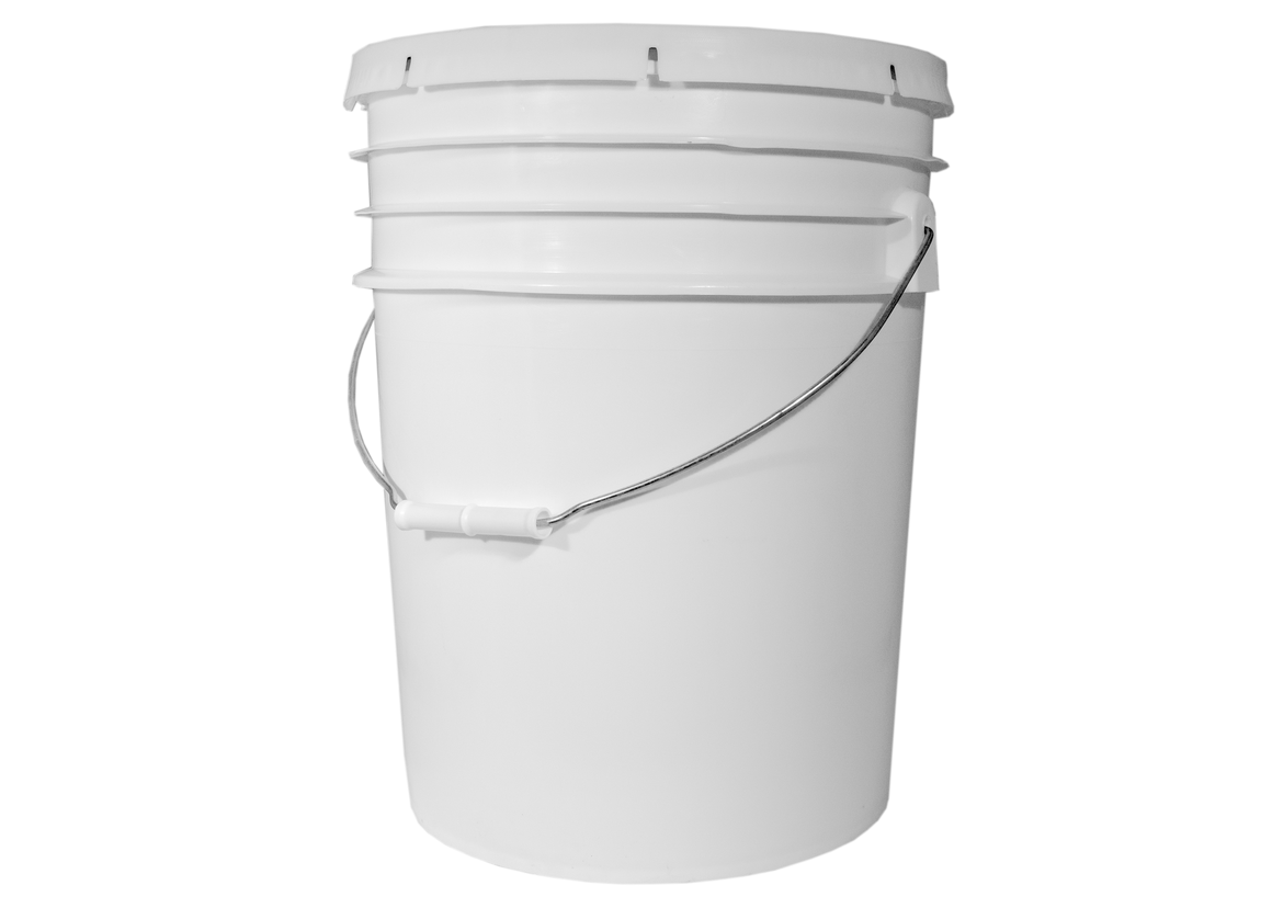Bucket, Food Grade Plastic, 5 Gal, Used
