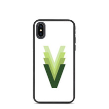 "Load image into Gallery viewer, Evolving Vegan ""V"" Biodegradable phone case"