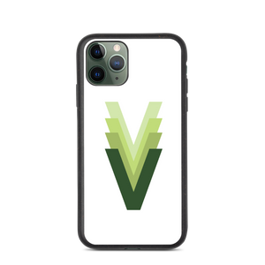 "Evolving Vegan ""V"" Biodegradable phone case"