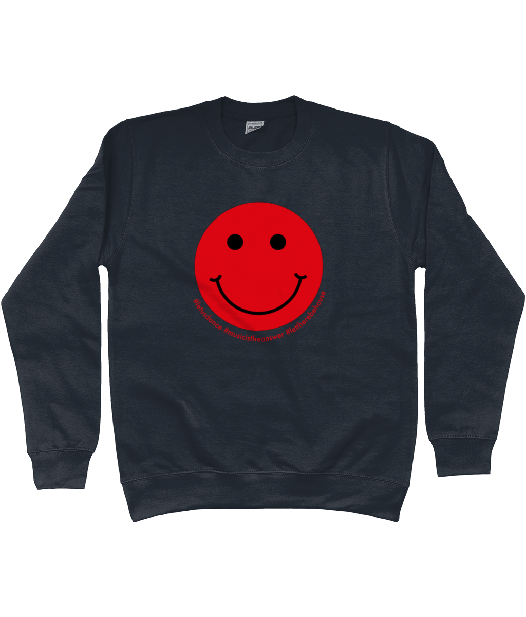 Sweatshirt Smiley Red