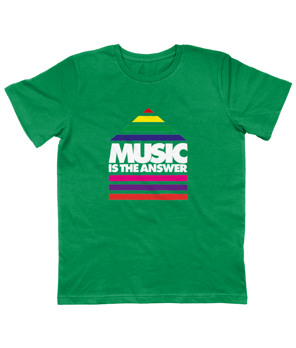 Junior T-Shirt Music Rainbow Logo