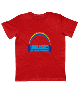 Junior T-Shirt Rainbow Headphones