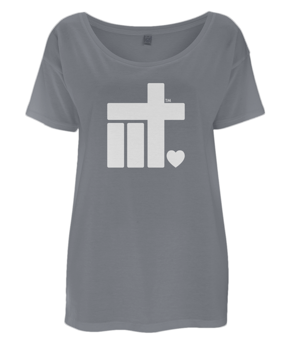 Women's Oversized T-Shirt IIT Logo White