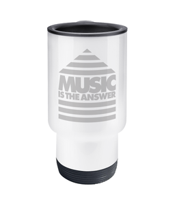 14oz Travel Mug 'Music is the Answer'