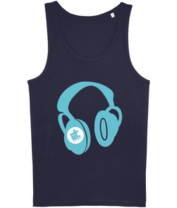 Men's Vest IIT Headphones Blue