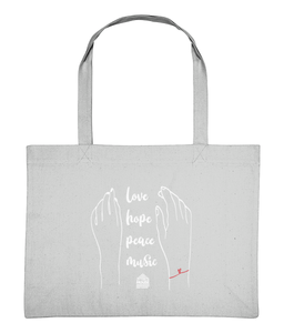 Shopping Bag Love Hands White