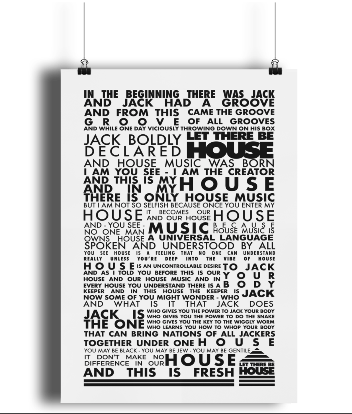 Lustre Art Print Let There Be House