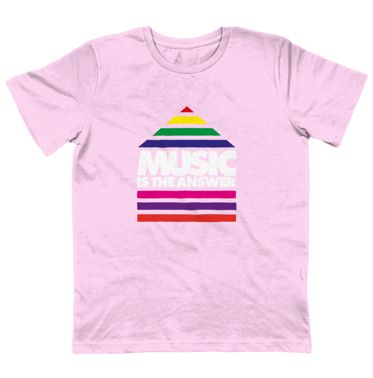 Junior T-shirt Music Rainbow Pink SALE
