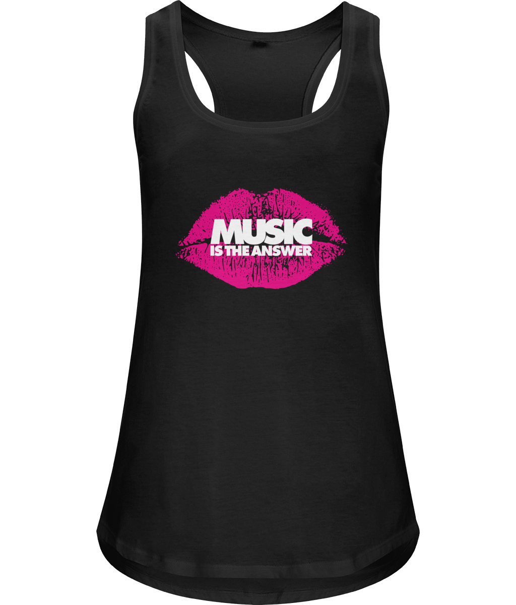 Women's Racerback Vest Lips Music