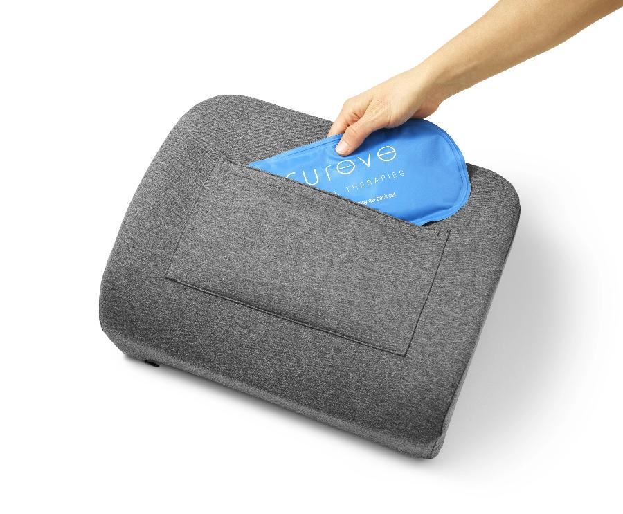Back Pain Relief Pillow with Heat + Ice