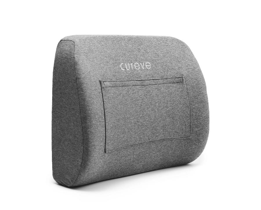 Cureve Premium Memory Foam Lumbar Support Back Pillow with Hot + Cold Therapy