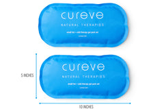 Hot + Cold Therapy Compress Two Gel Pack Set with Wrap