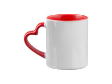 11oz. Red Heart Handle Mug