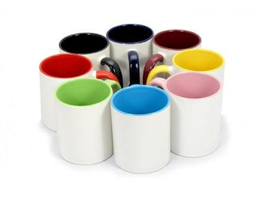 11oz. Colored Inner/Hand Mug