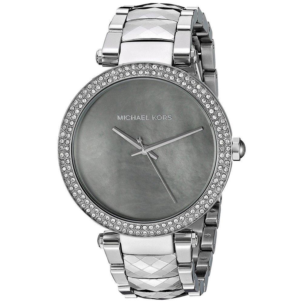 42f1caaea669 Michael Kors Parker MK6424 Crystal Bezel Silver Stainless Steel Ladies  Womenês Watch