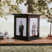 Load image into Gallery viewer, Wedding Reception Card Holder shown in Black