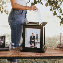 Load image into Gallery viewer, Black Wedding Card Box by The Perfect Card Box
