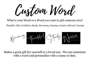 Word/Name/Date Art (Personalize-able)