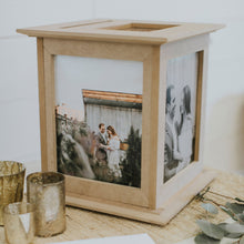 Load image into Gallery viewer, Raw Natural Wedding Card Holder by The Perfect Card Box