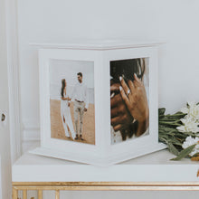 Load image into Gallery viewer, White Wedding Card Box