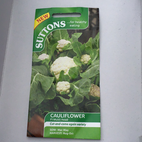 Cauliflower Sutton's seed