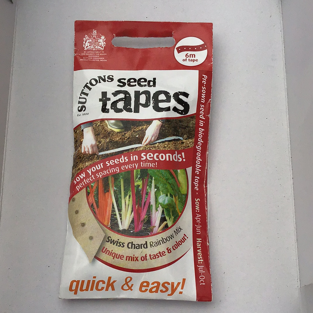 Swiss chard seed tape Sutton's