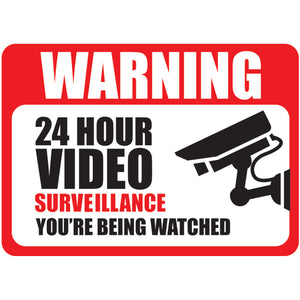 Video Surveillance Warning Labels