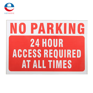 NEW Waterproof NO Parking At Any Time Warning Sign Vinyl Decal Sticker Red Security And Protection Durable Quality