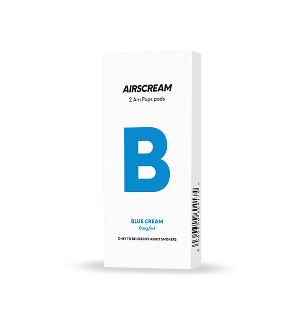 Airscream Cartridge Blue Cream 2pods pk