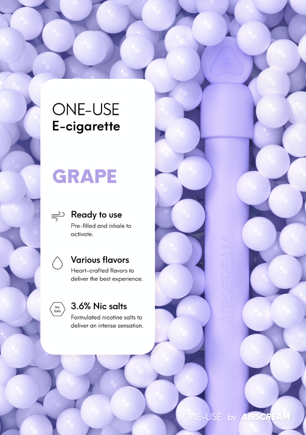 Airscream Grape One-Use Disposable E-Cigarette