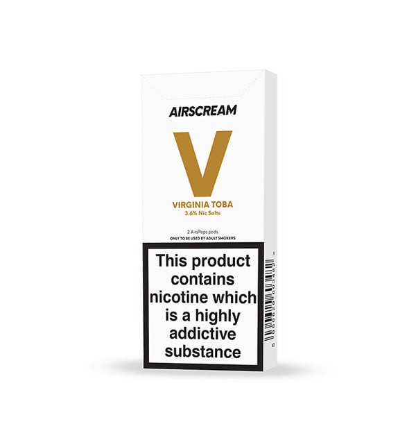 Airscream Cartridge Virginia Toba 2pods pk