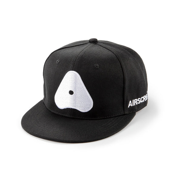AIRSCREAM White Logo Cap Black